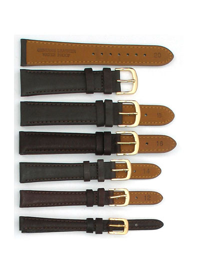 Watch Band - Thick Brown Leather