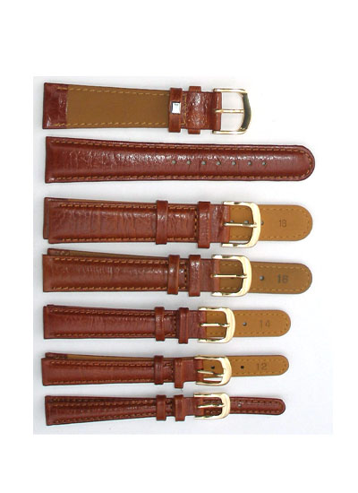 Watch Band - Thick Tan Shiny Leather